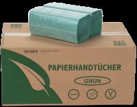 Papierhandtücher 1-lagig grün ZZ-Falz 25x21 cm 5000 Stück pro Karton