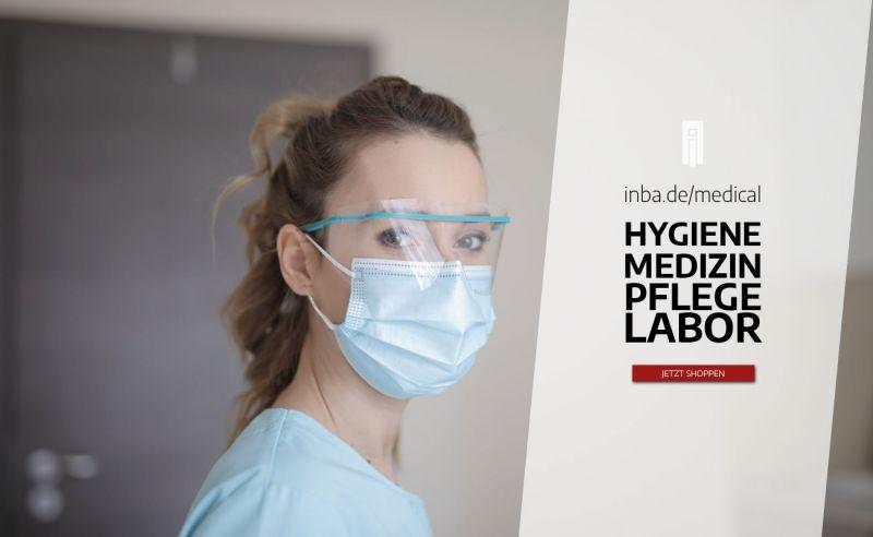 Medizinische Schutzprodukte und Hygieneprodukte von inba arbeitsschutz