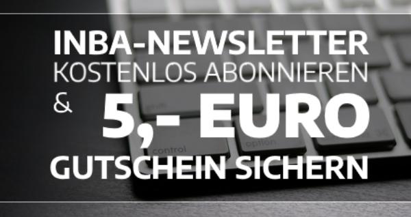Jetzt den inba Newsletter abonnieren und einen 5,- Euro Gutschein für Ihre Arbeitskleidung und Ihre Sicherheitsschuhe erhalten