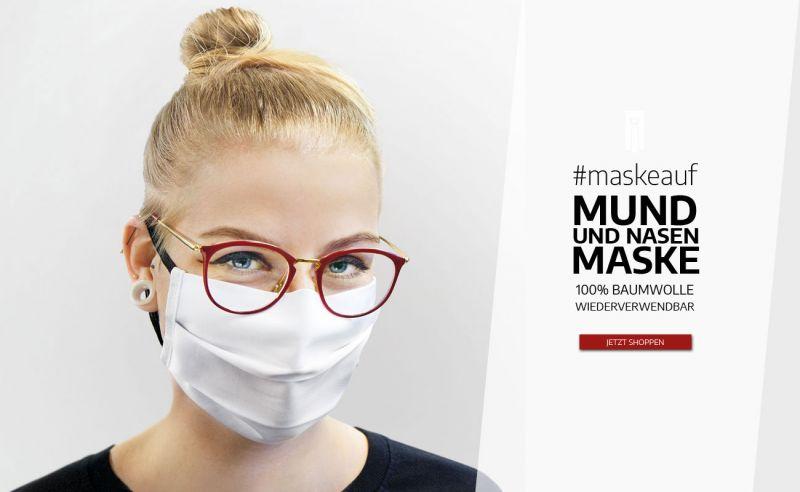 Mund-und-Nasenmaske aus Baumwolle, waschbar und wiederverwendbar
